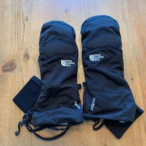 New North Face Brand men's black ski mitts small